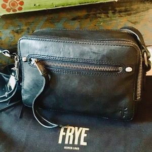 NWT -Black Frye Camera Zip Crossbody Bag